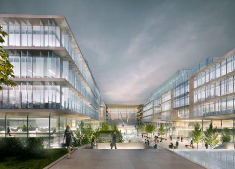 The €200m project at AIB Bankcentre will include the construction of two, six-storey office blocks. Four existing office blocks on the site will be demolished.