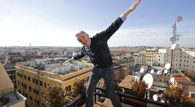 Ryanair CEO Michael O'Leary poses following a news conference in Rome. Photo: Reuters