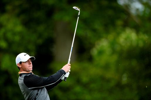 Rory McIlroy in action during the Dubai Duty Free Irish Open Golf Championship at The K Club
