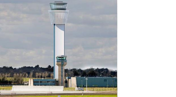 Artist's impression of the new tower at Dublin Airport.