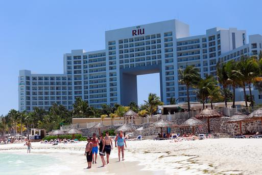 A giant Riu hotel in the Mexican resort of Cancun. The Spanish chain is looking at city markets.