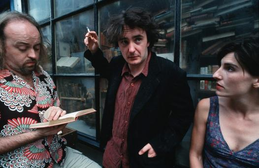 Bill Bailey, Dylan Moran and Tamsin Greig in 'Black Books'