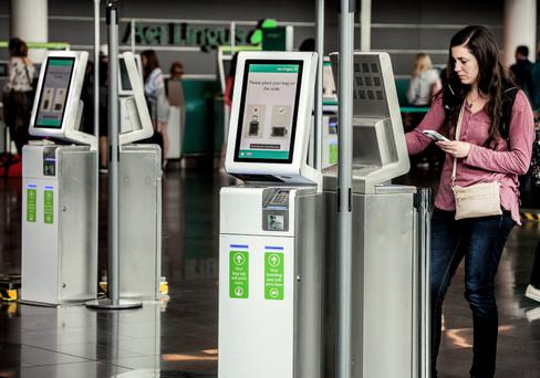 One of the 62 new self-service kiosks at Dublin Airport installed as part of a €2m upgrade of check-in facilities