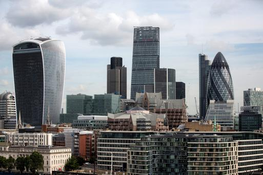 The City of London: the long-term benefits to Ireland in the wake of Brexit are unclear.
