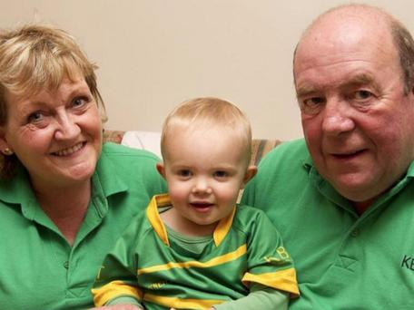 Eithne and Colin Bell, with their grandson Daniel