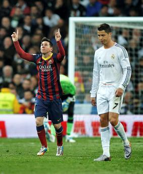 La Liga has the world's best players, with Messi, left, and Ronaldo