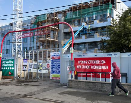 Ziggurat's Montrose student housing scheme during construction in 2014. The development is now near occupancy, says developer Matthew McAdden, with more projects planned in Ireland
