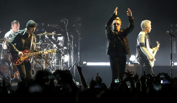 U2 at the 3Arena on November 23, 2015