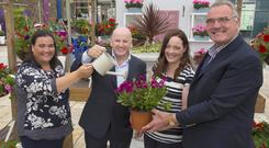 Elaine Walsh, Sean Gallagher, Maria Nolan, and Michael Nolan at Cois Na hAbhann garden centre in Camolin, Co Wexford. Photo: Mary Browne