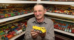 Cavanman Martin Bolger has a collection of (at last count) more than 20,000 Dinky cars and is one of the subjects of a new RTE documentary Picture: Adrian Donohoe