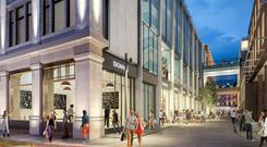 An artist's impression of the new-look Clerys