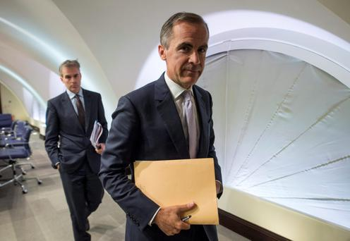 Bank of England governor Mark Carney is opposed to cutting the main bank rate below zero