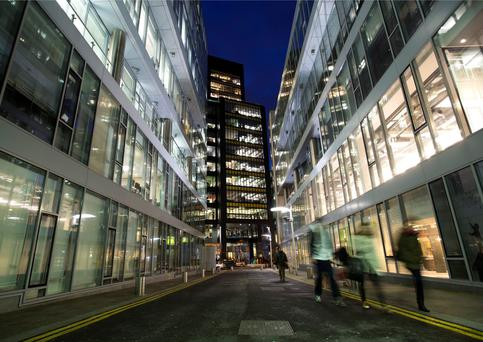 Google has made a base in Dublin, but the rise in office rents could put some investors off
