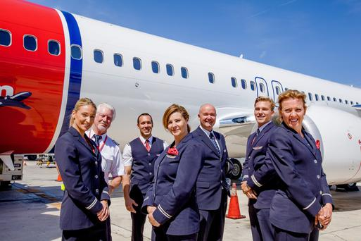 Cabin crew at Norwegian Air Shuttle, the parent company of the low-cost airline