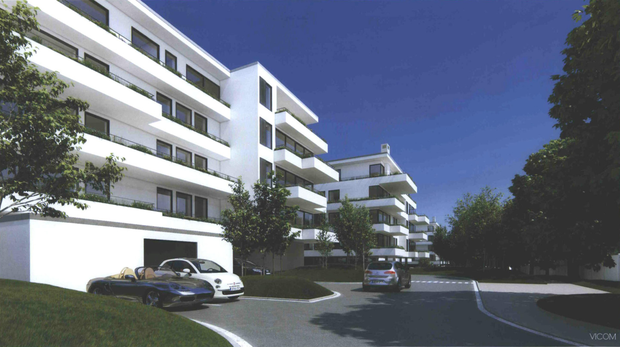An artist's impression of the proposed apartments