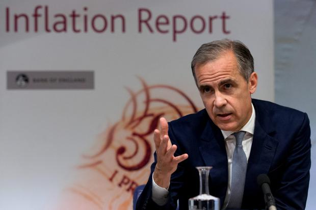 Bank of England Governor Mark Carney. The BoE's 0.25pc rate is the lowest in its 322-year history Picture: PA