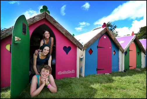 Alexandra Mellis, Zoe Rush and Holly Casey at Electric Picnic