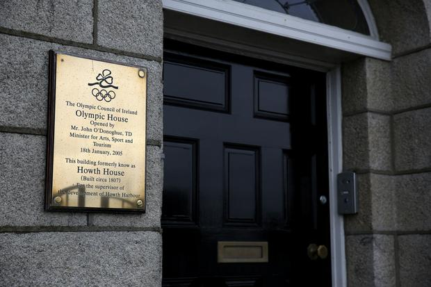 The Olympic Council of Ireland's offices in Howth, Co Dublin