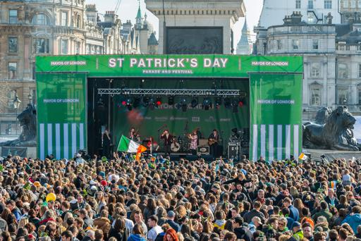 St Patrick's Day in London's Trafalgar Square: 'Time and again, the free labour movement has saved us – and has also created a bland insouciance among the elites here'