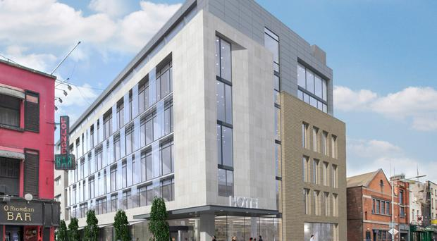 An artist's impression of the new hotel, behind the former Clerys department store in the capital