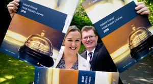 Christina Connolly, manager, Crowe Horwath, and Aiden Murphy, partner at Crowe Horwath, launching the 21st Annual Ireland Hotel Industry Survey 2016. Photo: Colm Mahady/Fennells