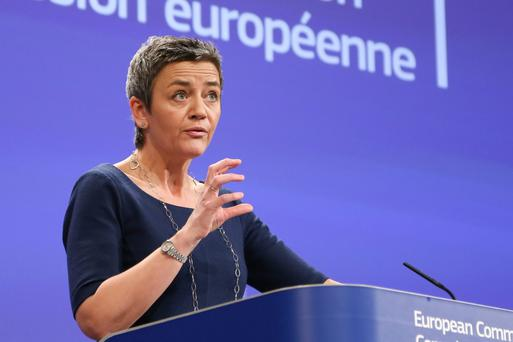 European Union competition commissioner Margrethe Vestager