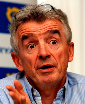 Ryanair chief executive Michael O'Leary Photo: Nick Ansell