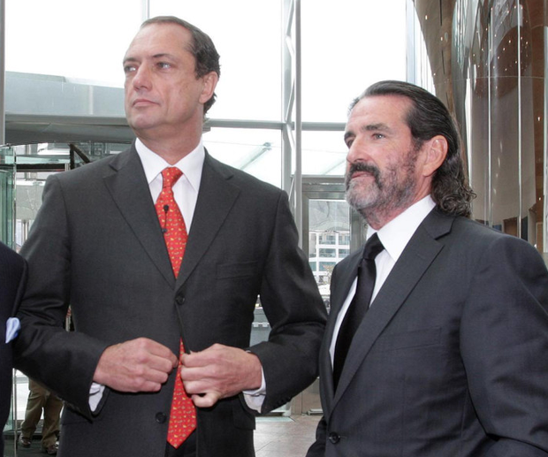 Richard Barrett and Johnny Ronan contested receivership of parent company Treasury Holdings