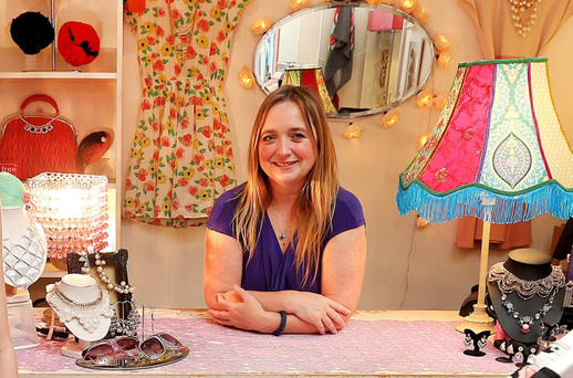 'I had a clear idea of what I wanted to do,' says Ruth Ni Loinsigh of Om Diva on Drury Street in Dublin. Photo: Steve Humphreys