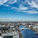 Dublin city as seen from the 23rd floor of Capital Dock, currently being developed by Kennedy Wilson. The building's offices are expected to be ready in the final quarter of 2017