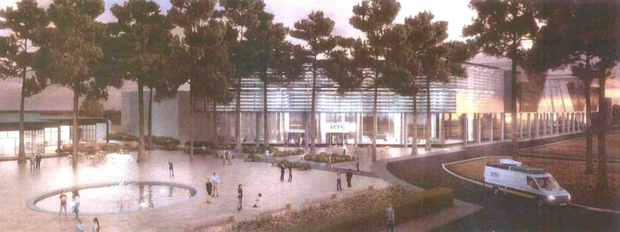 Artist's impression of new entrance to RTE