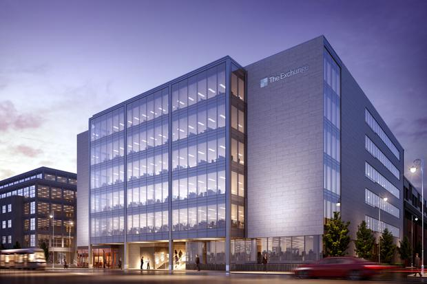 The €60m Exchange building in Dublin's IFSC will be capable of accommodating 1,200 employees