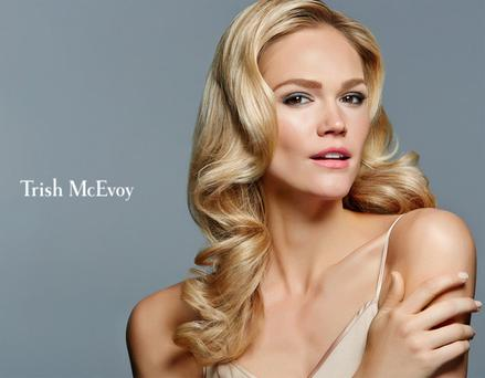 A model in a campaign for Trish McEvoy cosmetics