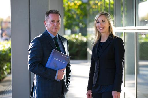 John Whelan, head of A&L Goodbody's international technology and data protection practice with Data Protection Commissioner Helen Dixon