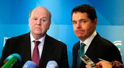 Finance Minister Michael Noonan and Minister for Public Expenditure and Reform Paschal Donohoe