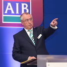 AIB's Richard Pym says the bank is close to being able to pay a 'prudent dividend' to the State. Photo: Independent.ie