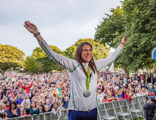 Annalise Murphy at her welcome home party in Dun Laoghaire. Photo: Arthur Carron