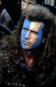 Mel Gibson in a scene from Braveheart, which was made in Ardmore Studios