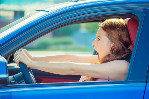 A report has found that woman are angrier behind the wheel