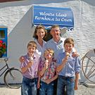 Valentia Island ice-cream makers Caroline and Joe Daly with their sons Philip, Evan and Matthew