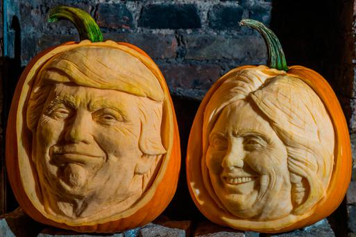 Halloween pumpkins carved with the likenesses of the two US presidential candidates – the US economy has already shown it's frightened of a Trump victory