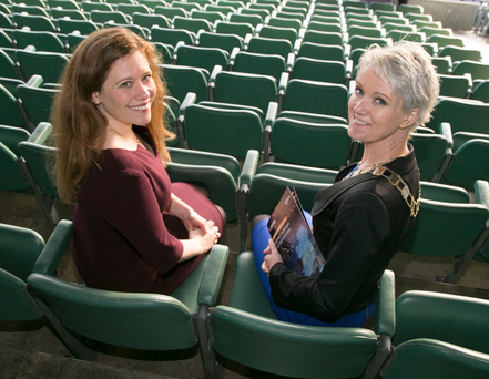 Pictured at the Annual Conference of the Society of Chartered Surveyors Ireland entitled, 'Turning Challenges into Opportunities' in Croke Park, Dublin, were Alexandra Notay, Director of Product and Service Innovation at Places for People, and Claire Solon, President of the SCSI and Head of Property at Friends First. Picture: Colm Mahady/Fennells