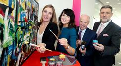 Rachel O'Connor, Colourtrend business development manager; Maura McAdam, DCU Family Business Centre; Kevin O'Connor, Colourtrend managing director; and Paul Hennessy, PwC family business leader