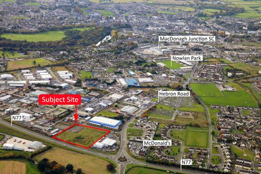 The prime development site is located on Kilkenny City's outskirts