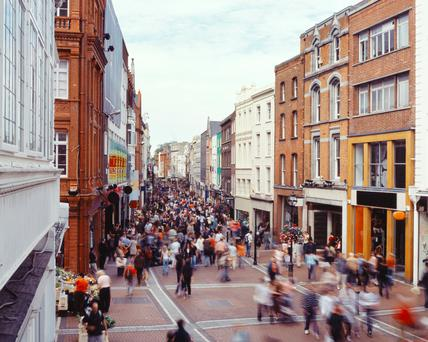 'Dublin is a living city that is being choked by too many visitors'. Stock Image