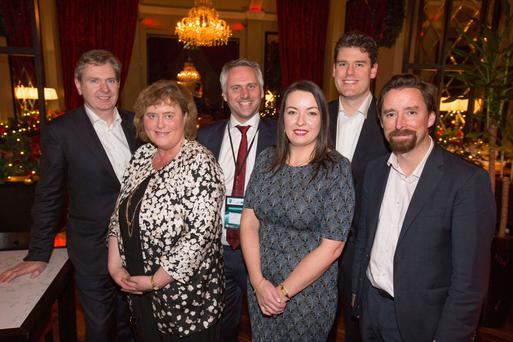 At the Seafood Bar by Wrights of Howth in central Dublin were (from left): Stephen Rae, Group Editor-In-Chief Independent News & Media (INM); Alice Tolan, eir Business account Director; Erik Slooten, CIO of eir; Cliona Carroll, Sponsorship and events manager, INM; Paul Kavanagh, regional sales manager of CISCO and Adrian Weckler, Technology Editor, INM. Picture: Mark Condren