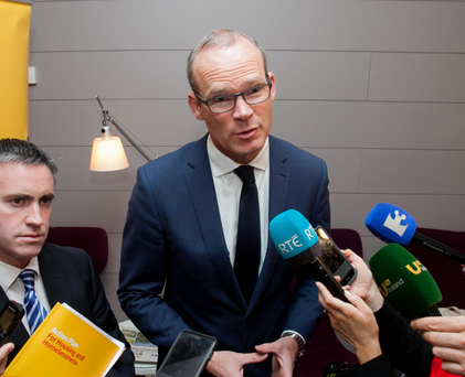 Housing Minister Simon Coveney's 'Rebuilding Ireland' plan faces a potential obstacle following a complaint to the European Commission by developers. Photo: Collins