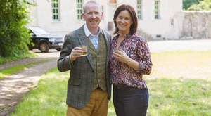 Bernard and Rosemary Walsh on the Royal Oak estate in Co Carlow where whiskeys, including The Irishman and Writer's Tears brands are made