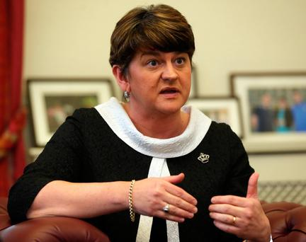 First Minister Arlene Foster has refused to say whether she would push for any kind of special status for Northern Ireland following Brexit. Photo: PA