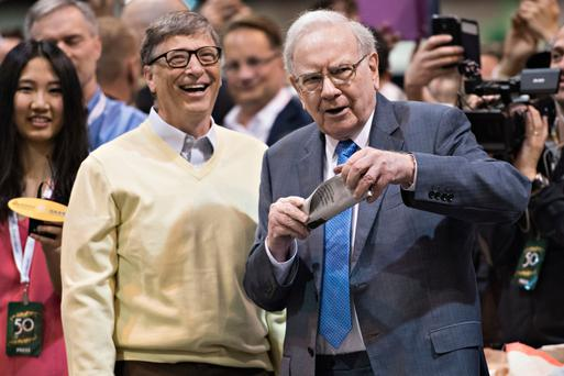 Microsoft's Bill Gates and investor Warren Buffett. Photo: Bloomberg